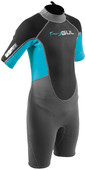 2020 GUL Junior Response 3mm Back Zip Shorty Wetsuit RE3322-B7 - Grey / Blue