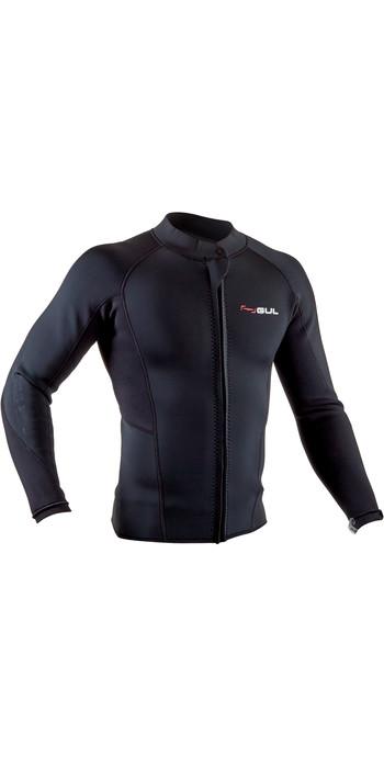 2020 GUL Mens Response 3mm Flatlock Neoprene Jacket RE6304-B7 - Black