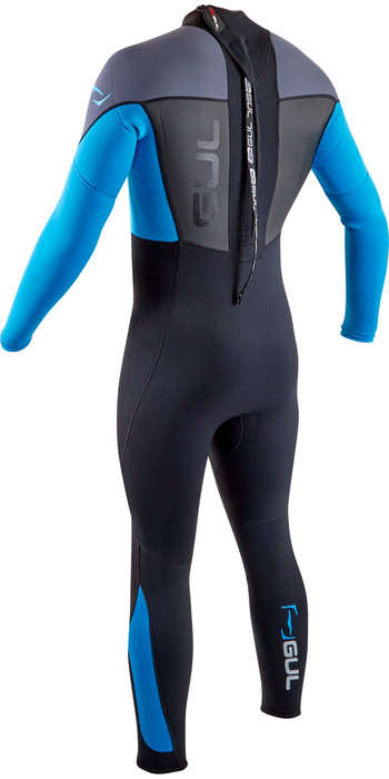 2020 GUL Mens Response 3/2mm Back Zip Wetsuit RE1321-B7 - Black / Blue