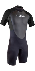 2020 GUL Mens Response 3/2mm Back Zip Shorty Wetsuit RE3319-B7 - Black
