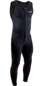 2020 GUL Mens Response 3mm Front Zip Long John Wetsuit RE4313-B7 - Black