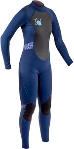 2020 GUL Womens Response 3/2mm Back Zip Wetsuit RE1319-B7 - Navy / TieDye