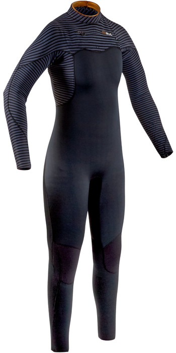 2020 GUL Womens Viper 5/4mm Chest Zip Wetsuit VR1223-B8 - Black