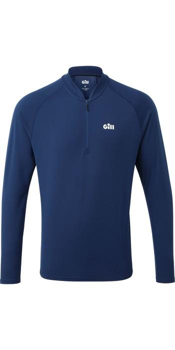 2021 Gill Mens Millbrook Zip T-Shirt 1107 - Dark Blue