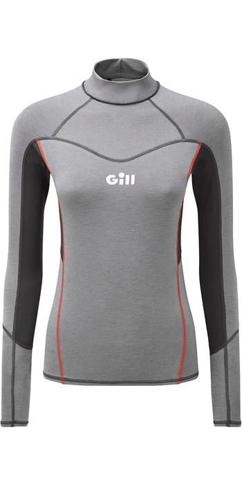 2021 Gill Womens Eco Pro Rash Vest 5025W - Grey Melange