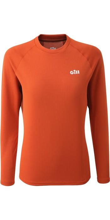 2021 Gill Womens Millbrook Long Sleeve Crew Top 1108W - Orange