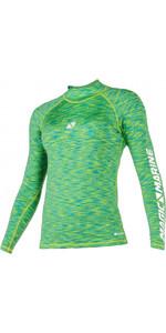 2021 Magic Marine Womens Cube Long Sleeve Rash Vest 180043 - Green Melee