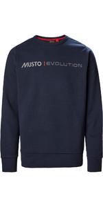 2021 Musto Mens Evolution Logo Crew Jumper 82042 - True Navy