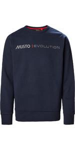 2021 Musto Mens Evolution Logo Crew Jumper 82042 - True Navy
