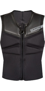 2020 Mystic Block Kite Impact Vest Front Zip KBL - Black