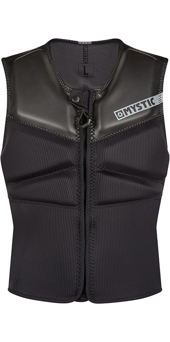 2021 Mystic Block Kite Impact Vest Front Zip KBL - Black