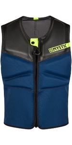 2020 Mystic Block Kite Impact Vest Front Zip KBL - Navy / Lime