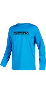 2021 Mystic Mens Star Quick Dry Long Sleeve Top STQDLS - Blue