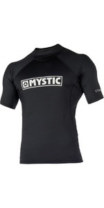 2021 Mystic Mens Star Short Sleeve Rash Vest STSSRASH - Black