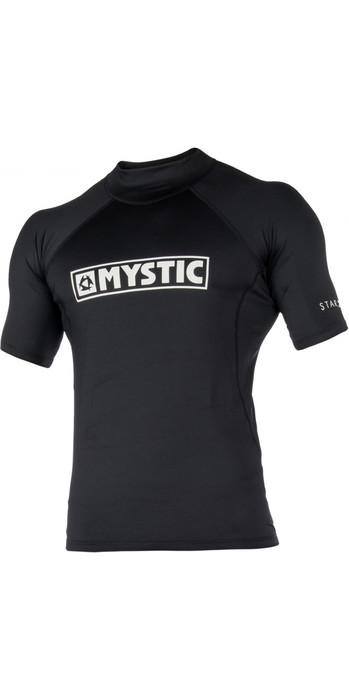 2021 Mystic Mens Star Short Sleeve Rash Vest STSSRASH - Black