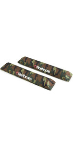 2020 Northcore Aerodynamic 48cm Roof Rack Bar Pads NOCO21CB - Camo