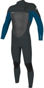 2020 O'Neill Mens Epic 5/4mm Chest Zip Wetsuit 5370 - Gunmetal / Ultra Blue