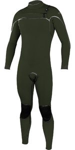 2020 O'Neill Mens Psycho One 5/4mm Chest Zip Wetsuit 5428 - Ghost Green