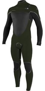 2020 O'Neill Mens Psycho Tech 5/4+mm Chest Zip Wetsuit 5365 - Ghost Green / Black