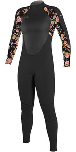 2021 O'Neill Youth Epic 4/3mm Back Zip GBS Wetsuit 4216BG - Black / Flo
