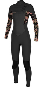 2021 O'Neill Youth Epic 4/3mm Chest Zip GBS Wetsuit 5358G - Black / Flo