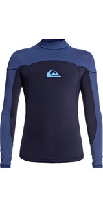 2020 Quiksilver Boys Syncro 1mm Long Sleeve Neoprene Top EQBW803005 - Navy / Iodine