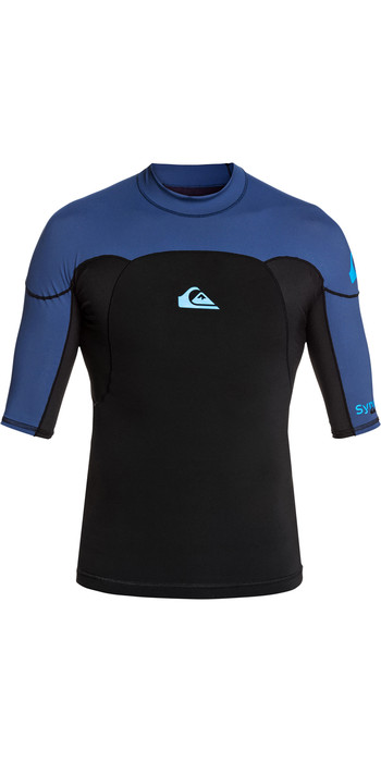 2020 Quiksilver Mens Syncro 1mm Short Sleeve Neoprene Top EQYW903005 - Black / Blue