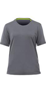 2021 Zhik Womens ZhikDry LT Short Sleeve Top TOP78W - Grey