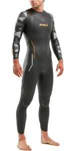 2020 2XU Mens P:2 Propel Triathlon Wetsuit MW4990C - Black / Orange Fizz