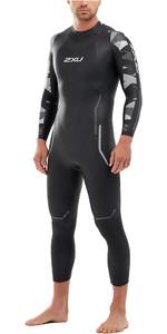 2020 2XU Mens P:2 Propel Triathlon Wetsuit MW4990C - Black / Textural Geo