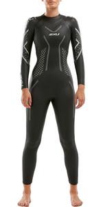 2020 2XU Womens P:2 Propel Triathlon Wetsuit WW4993C - Black / Textural Geo