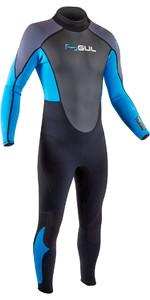2020 GUL Mens Response 3/2mm Back Zip Wetsuit RE1321-B7 - Black / Blue