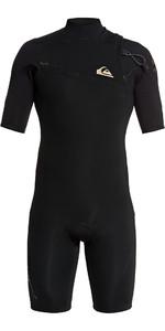 2020 Quiksilver Mens 2mm Highline Lite Zipperless Shorty Wetsuit EQYW503009 - Black