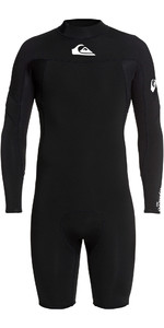 2020 Quiksilver Mens 2mm Syncro Back Zip Long Sleeve Shorty Wetsuit EQYW403013 - Black
