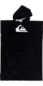 2020 Quiksilver Youth Hoody Towel Change Robe EQBAA03076 - Black