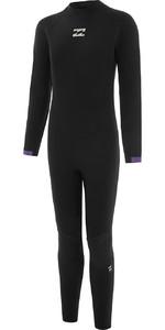 2021 Billabong Junior Boys 4/3mm Back Zip Wetsuit O44B20 - Bright Purple