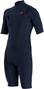 2021 Billabong Mens Absolute 2mm Flatlock Chest Zip Shorty Wetsuit W42M71 - Slate Blue