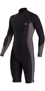 2021 Billabong Mens Absolute 2mm Long Sleeve Shorty Wetsuit W42M73 - Charcoal
