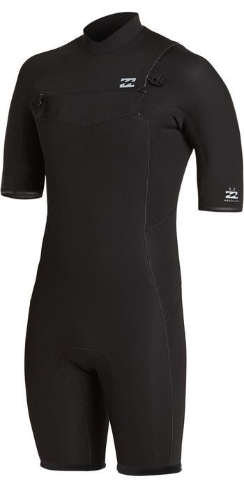 2021 Billabong Mens Absolute 2mm Chest Zip Shorty Wetsuit W42M63 - Black