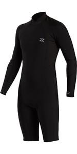 2021 Billabong Mens Absolute Comp 2mm GBS Long Sleeve Shorty Wetsuit W42M90 - Black