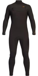 2021 Billabong Mens Revolution 4/3mm Chest Zip Wetsuit Z44M15 - Black Clay