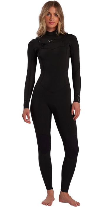 2021 Billabong Womens Salty Dayz 4/3mm Chest Zip Wetsuit W44G50 - Black
