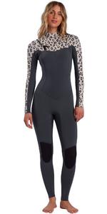 2021 Billabong Womens Salty Dayz 4/3mm Chest Zip Wetsuit W44G50 - Leopard