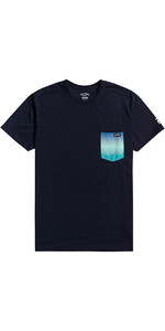 2021 Billabong Mens Team Pocket T-Shirt W4EQ06 - Navy
