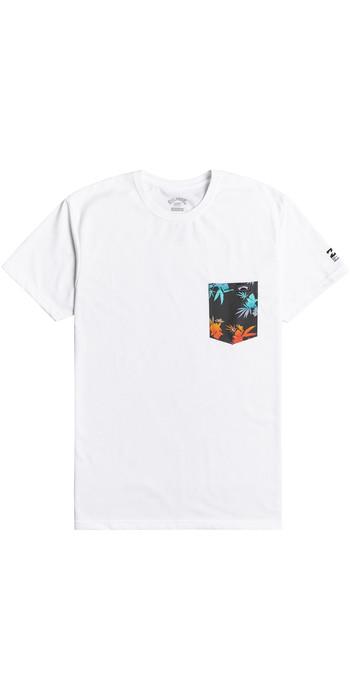 2021 Billabong Mens Team Pocket T-Shirt W4EQ06 - White