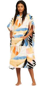 2021 Billabong Womens Hooded Towel Robe Poncho Z4BR40 - Heat Wave