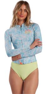 2021 Billabong Womens Peeky Jacket 2mm Wetsuit Top W42G56 - Island Blue Neo