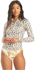 2021 Billabong Womens Peeky Jacket 2mm Wetsuit Top W42G56 - Sweet Sands