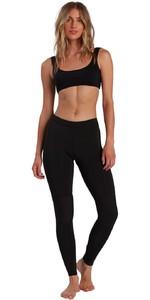 2021 Billabong Womens Skinny Sea Legs Wetsuit Trousers W41G60 - Black