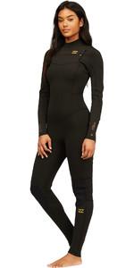 2021 Billabong Womens Synergy 4/3mm Chest Zip Wetsuit Z44G14 - Black Tie Dye